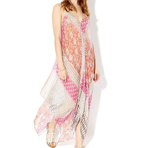 MONSOON. Cover Up Sequin. Sheer. Handkerchief fit